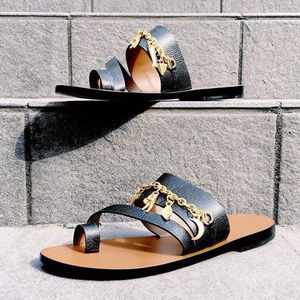 NEW HTF Sandro Paris Charm Sandals